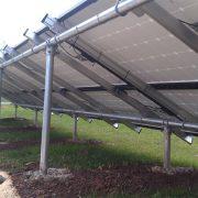 Back of solar panels