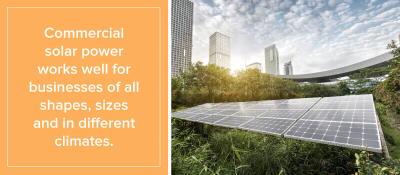 Commercial Solar Power Works for Businesses Of All Shapes, Sizes and Climates