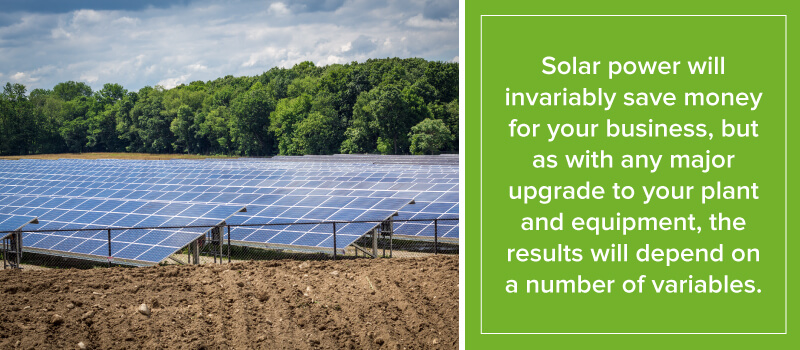 Solar Power Will Invariably Save Money For Your Business