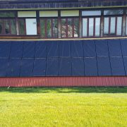 Array wall with solar panels