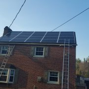Home with solar panels on roof