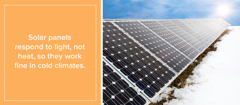 Solar Panels Respond to Light Not Heat